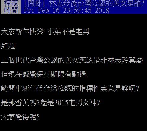 林志玲,周子瑜,張鈞甯,/翻攝自PTT八卦版