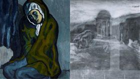 畢卡索,美國,研究,西班牙,藝術家,蜷坐的乞丐,畫,X光, 圖/翻攝自YouTube https://goo.gl/iS18MW