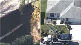 美國,佛羅里達州,地陷,地洞,塌陷,馬里恩郡, 圖/翻攝自每日郵報影片 https://goo.gl/GvRbNz