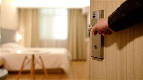 飯店,開門,房間 示意圖/翻攝自Pixabay