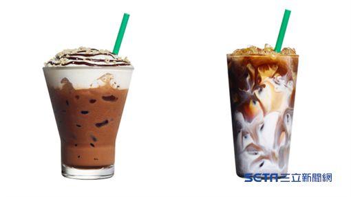 統一星巴克春季限定飲品,夏威夷巧克力卡布奇諾,大溪地香草瑪奇朵。(圖/星巴克提供)