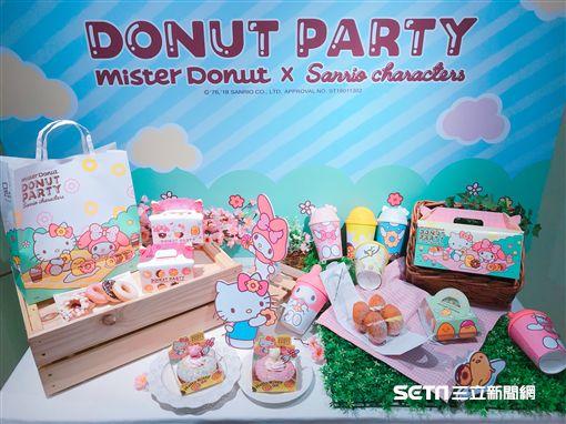 Mister Donut與三麗鷗聯名造型甜甜圈。(圖/記者簡佑庭攝)