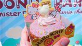Mister Donut與三麗鷗聯名造型甜甜圈。(圖/記者簡佑庭攝)'