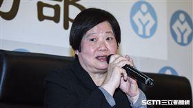 勞基法修正案三讀通過,勞動部長林美珠出面召開記者會說明。 圖/記者林敬旻攝