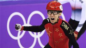 ▲武大靖為中國摘下第一面金牌。(圖/美聯社/達志影像)
