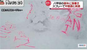 日本樹冰被噴漆破壞_News 24 Youtube