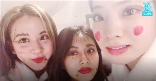 南韓女團「TWICE」子瑜、多賢及彩瑛/翻攝自VLIVE