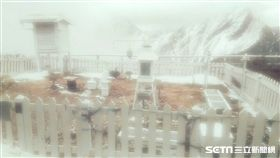 玉山再度成「銀白世界」!中央氣象局表示,玉山觀測站今(24)日上午7點50分到上午10點,降雪0.7公分,10點停止降雪,目前降雪融化中。 中央氣象局