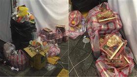 燈會,西門町,便當,餐盒,丟棄,食物,浪費,食材,垃圾,廚餘,剩食 (圖/翻攝自爆料公社)