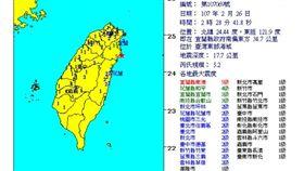 2/26 02:28 宜蘭外海5.2地震