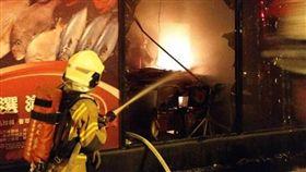 台南,安平,失火,火災,海鮮餐廳,員工出遊,禾康海鮮餐廳(圖/翻攝畫面)