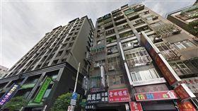 台北市中山區情侶一氧化碳中毒身亡現場(翻攝自Google Map)