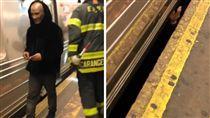 美國,地鐵,鐵軌,列車,喝醉,月台(圖/翻攝自shonnotsean Instagram)