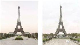大陸杭州「天都城」搖身成為山寨巴黎(圖/翻攝自《搜狐新聞》)