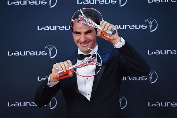 ▲費德勒奪來世界勞倫斯體育獎最好男運動員。(圖/美聯社/達志影象)