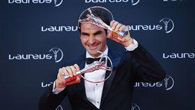 ▲費德勒奪下世界勞倫斯體育獎最佳男運動員。(圖/美聯社/達志影像)