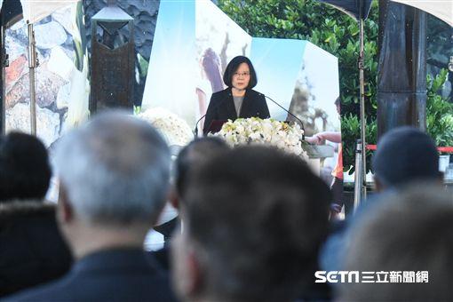 總統蔡英文出席二二八紀念中樞儀式。 圖/記者林敬旻攝