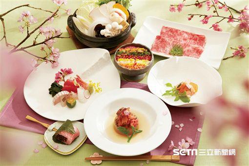 喜來登桃山「緋櫻春雪宴」櫻花祭限定摒擋。(圖/台北喜來登提供)