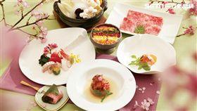喜來登桃山「緋櫻春雪宴」櫻花祭限定料理。(圖/台北喜來登提供)