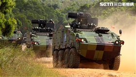 參演「長青15號操演」的包括雲豹甲車、旅級戰術輪車。(記者邱榮吉/攝影)
