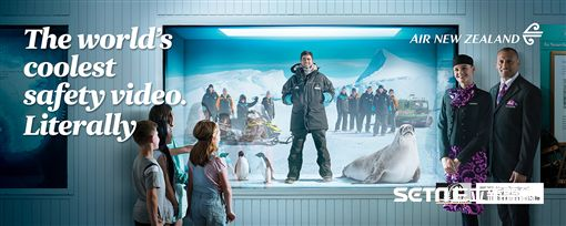 紐西蘭航空最新南極飛翔安全宣導短片。(圖/紐西蘭航空供給)