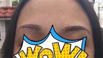 眉毛,紋眉,醫美,雷射,除疤,毀容(圖/翻攝自臉書爆怨公社)https://www.bc3ts.com/post/7858