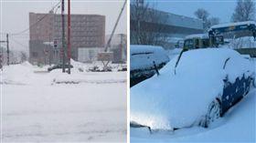 日本,出遊,出國,暴雪,下雪,北海道,飛機,機場,班機,停航(圖/翻攝自推特)