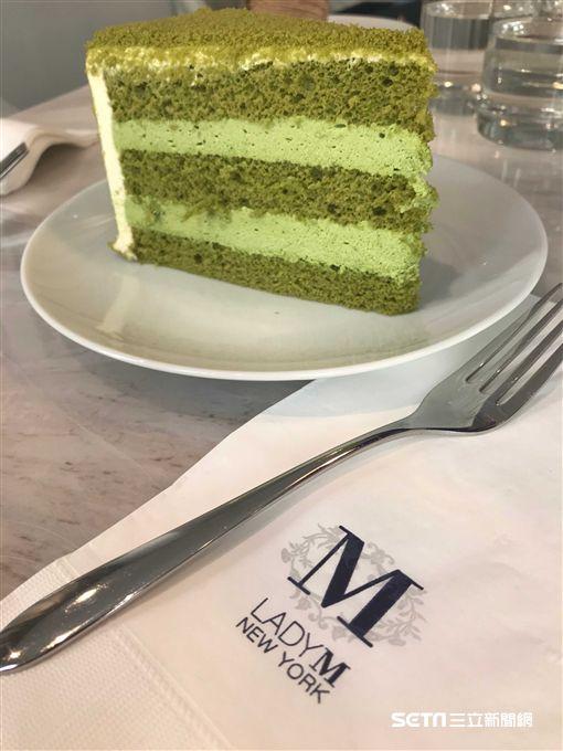 Lady M抹茶蛋糕新品。(圖/記者簡佑庭攝)