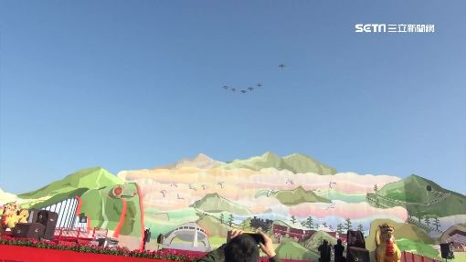 衝衝衝! 台灣燈會第一次 F16飛行表演