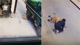 娃娃車倒地嬰兒遭輾爆頭/翻攝城管追擊臉書