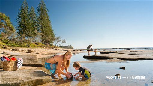 澳洲昆士蘭秘境沙岸,海灘,日光浴(圖/澳洲昆士蘭州旅遊暨活動推行局提供)