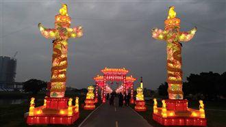 新北祈福燈會,元宵節,新北市,大都會公園。(圖/翻攝自新北市三重區公所FB)
