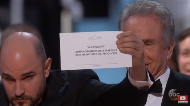 上屆奧斯卡頒錯獎 他們今年又來拉!
