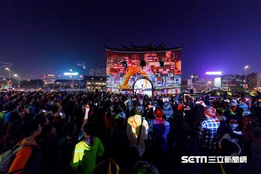 台北燈節,北門展演區。(圖/觀傳局提供)