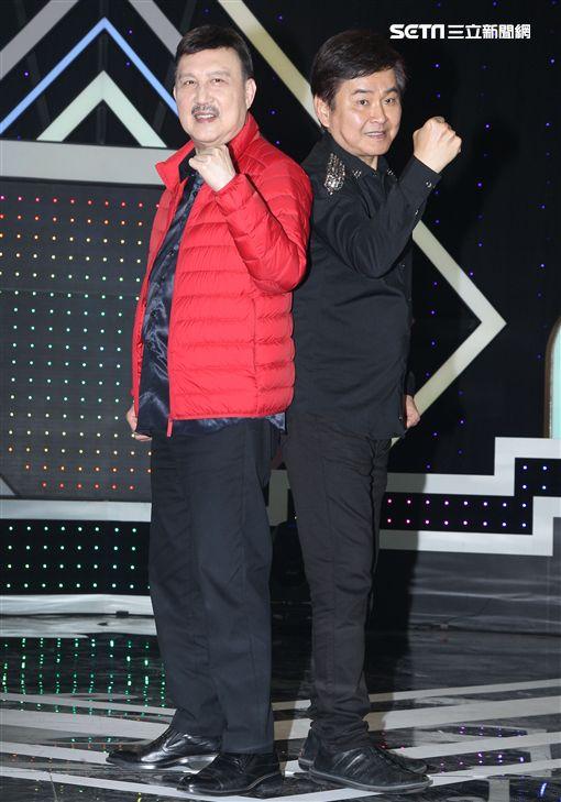 華視「天生王牌」第二季節目首錄多了「兒童歌唱比賽」項目,除主持人:余天、賀一航外余祥銓、米可白同時加入主持行列。(記者邱榮吉/攝影)