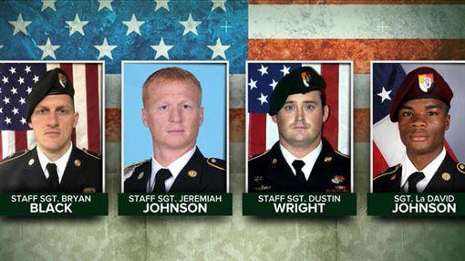 巡邏遇50名IS伏擊…美軍4美軍綠扁帽倒地亡 頭盔視角曝光翻攝《CBS News》
