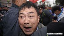 統促黨挑釁蔡丁貴,與警方發生激烈推擠 228,中正紀念堂 圖/記者林敬旻攝