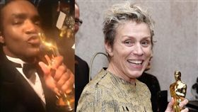 法蘭西絲麥多曼,影后,意外,奧斯卡,偷小金人的男子。(翻攝自臉書、推特)