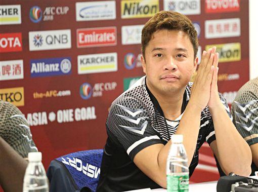 ▲航源FC總教練洪慶懷對7日的比賽有信心。(圖/中華足協提供)