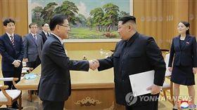 金正恩接見南韓特使團_韓聯社