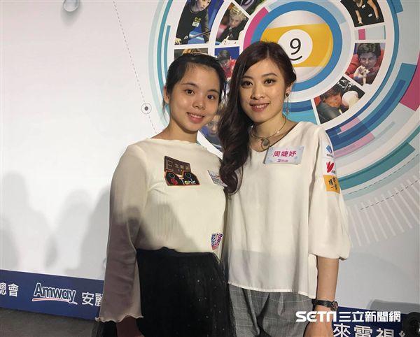 ▲年輕新星陳佳樺(左)和「大眼妹」周婕妤。(圖/記者蔡宜瑾攝影)