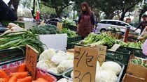 台北果菜市場休市3天  菜價跌幅大(3)台北果菜市場5日起休市3天,民眾6日到傳統市場買菜,有些葉菜類比休市前便宜。中央社記者張皓安攝  107年3月6日