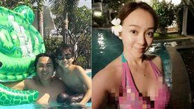 泰國度假,季芹,王仁甫。(翻攝臉書)