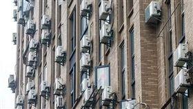 中國大陸,大樓,公寓,冷氣機(圖/微博)