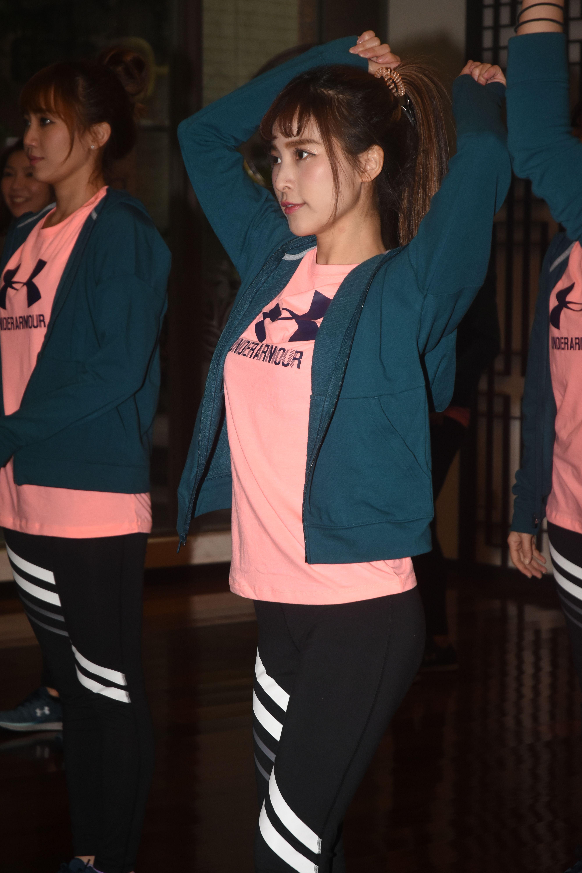 Lamigirls春訓練舞開放媒體拍攝。 圖/記者林敬旻攝