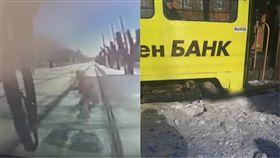 鐵軌,平交道,俄羅斯,葉卡捷琳堡,Mashinostroiteley,電車,撞人         圖/翻攝自YouTube https://goo.gl/Dt5Naa