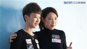▲郭思廷(左)和魏子茜曾一同在世大運奪金。(圖/記者蔡宜瑾攝影)