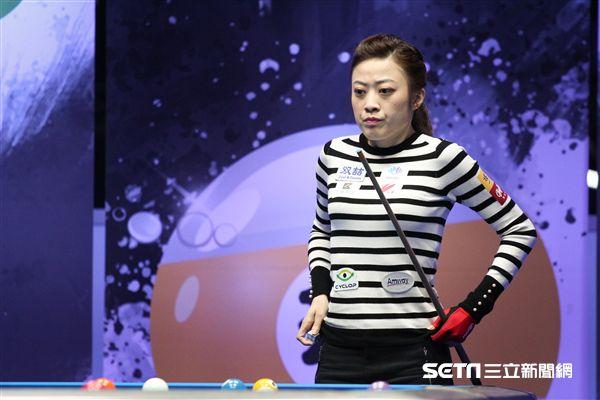 ▲台灣撞球名將「大眼妹」周婕妤無奈在2018安麗盃8強止步。(圖/記者蔡宜瑾攝影)