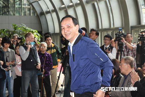 新北市長朱立倫出席公共運輸定期票發布記者會。 圖/記者林敬旻攝