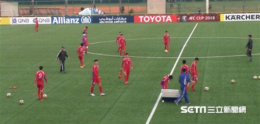 ▲北韓425 SC在輔大練球。(圖/記者林辰彥攝影)